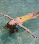 VITAMIN A Alma Bodysuit Vichy Marigold