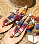 NUPIE SANDALS GYPSY COLORFUL RIBBON