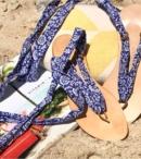 NUPIE SANDALS BLUE RIBBON