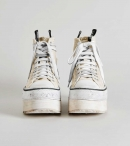 R13 Platform High Top Sneakers - Ecru