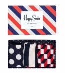 Happy Socks Classic Stripe Gift Box Blue/Red/White