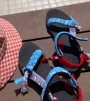 ARIZONA LOVE -TREKKY BANDANA SANDALS BLUE