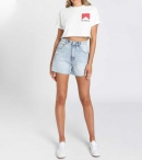 THE PEOPLE VS-SMOKER CROP TEE WHITE