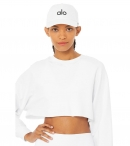 ALO YOGA- BASEBALL CAP WHITE