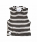 DONT TELL MAMA-SAILOR BREEZY TANK GREEN STRIPS