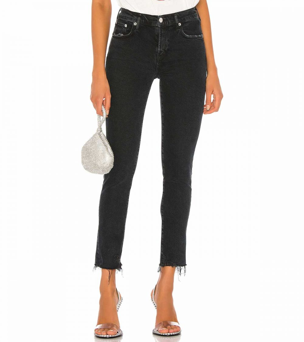 AGOLD-TONI MID RISE STRAIGHT JEANS