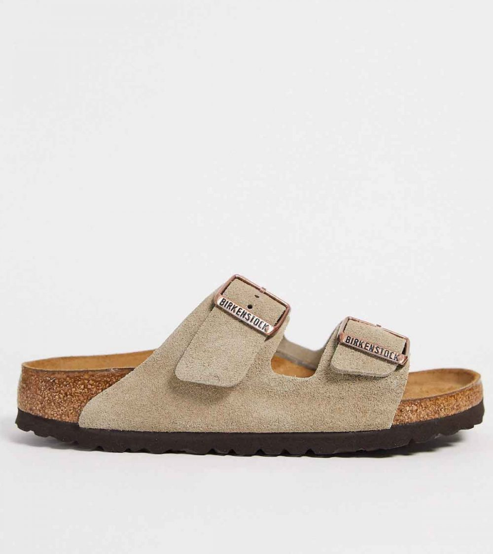 BIRKENSTOCK-ARIZONA IN TAUPE SUEDE