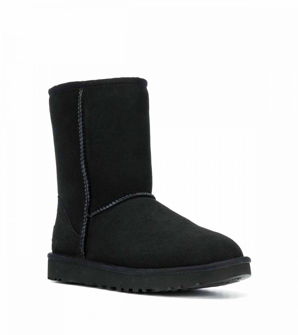UGG-CLASSIC SHORT BOOTS BLACK