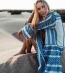 DEVOTION- ELLA SHORT DRESS BLUE/OFF EHITE